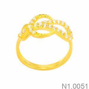 Nhẫn Nữ Vàng 18K Đính Đá CZ - N1.0051