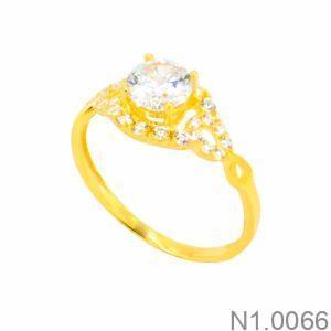 Nhẫn Nữ Vàng 18K Đính Đá CZ - N1.0066