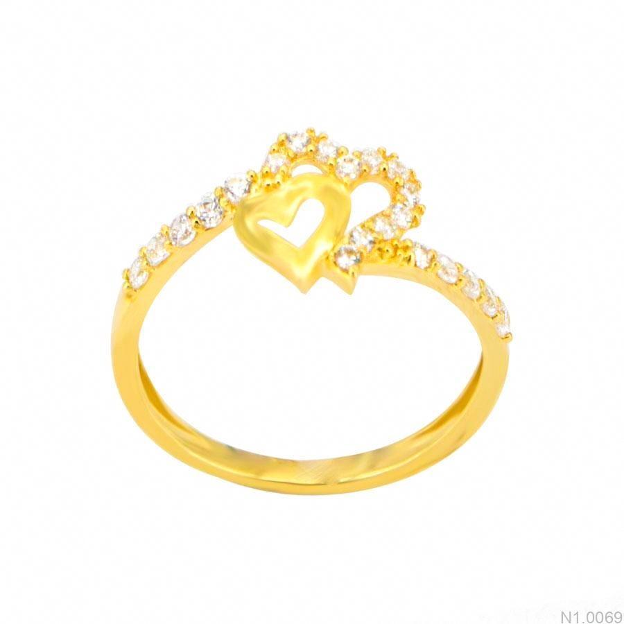 Nhẫn Nữ Vàng 18K Đính Đá CZ - N1.0069