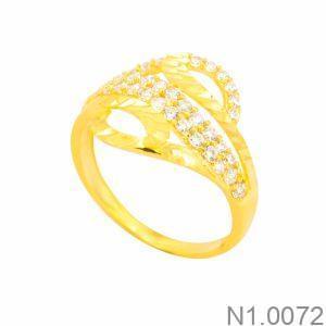 Nhẫn Nữ Vàng 18K Đính Đá CZ - N1.0072