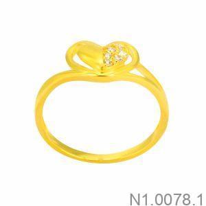 Nhẫn Nữ Vàng 18K Đính Đá CZ - N1.0078.1