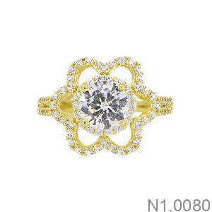 Nhẫn Nữ Vàng 18K Đính Đá CZ - N1.0080
