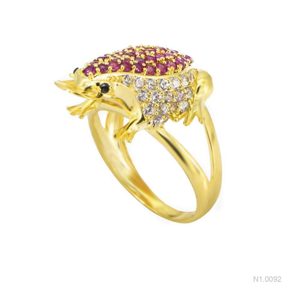 N1.0092-1 Nhẫn nữ vàng 18k con cóc