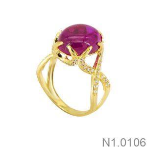 Nhẫn Nữ Vàng 18K Đính Đá CZ - N1.0106