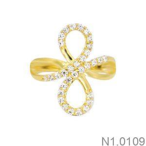 Nhẫn Nữ Vàng 18K Đính Đá CZ - N1.0109
