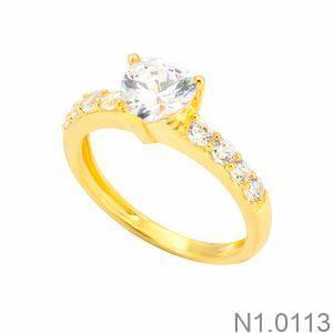 Nhẫn Nữ Vàng 18K Đính Đá CZ - N1.0113