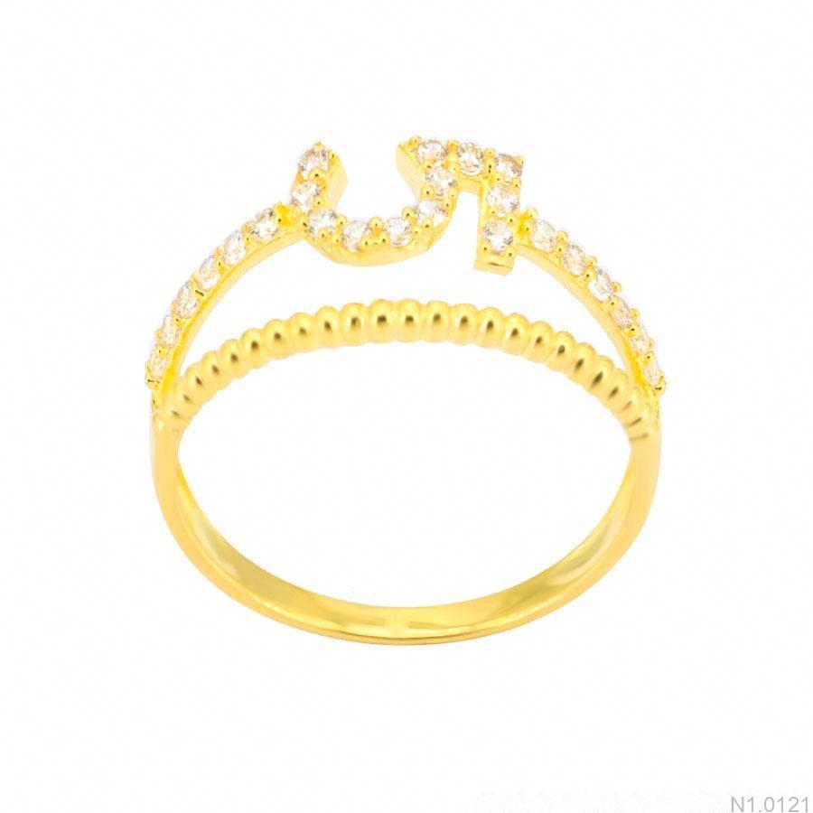 Nhẫn Nữ Vàng 18K Đính Đá CZ - N1.0121