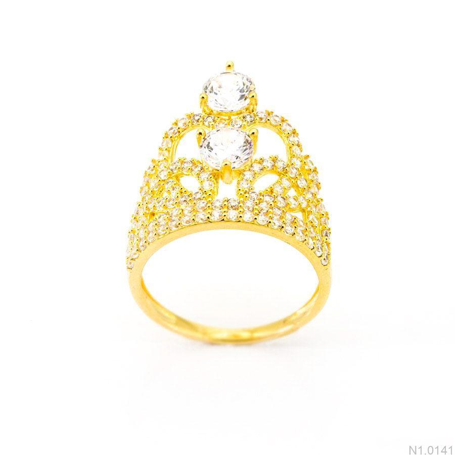 Nhẫn Nữ Vàng 18K Đính Đá CZ - N1.0141