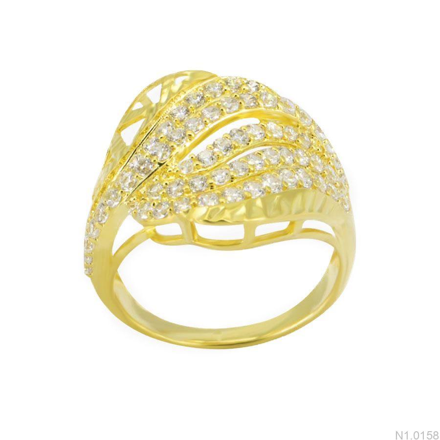 Nhẫn Nữ Vàng 18K Đính Đá CZ - N1.0158