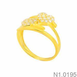 Nhẫn Nữ Vàng 18K Đính Đá CZ - N1.0195