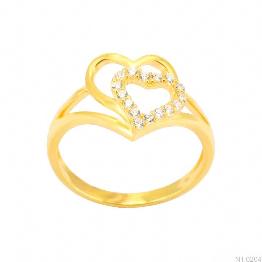 Nhẫn Nữ Vàng 18K Đính Đá CZ - N1.0204