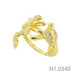 Nhẫn Nữ Vàng 18K Đính Đá CZ - N1.0345