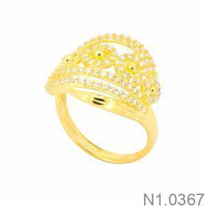 Nhẫn Nữ Vàng 18K Đính Đá CZ - N1.0367
