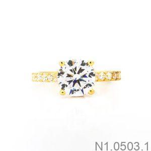 Nhẫn Nữ Vàng 18K Đính Đá CZ - N1.0503.1