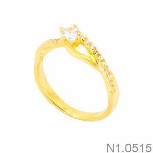 Nhẫn Nữ Vàng 18K Đính Đá CZ - N1.0515