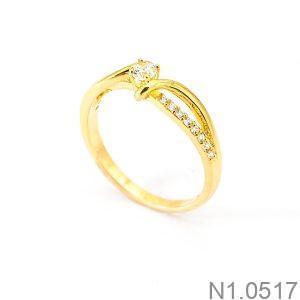 Nhẫn Nữ Vàng 18K Đính Đá CZ - N1.0517