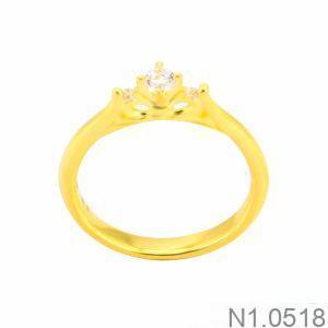Nhẫn Nữ Vàng 18K Đính Đá CZ - N1.0518