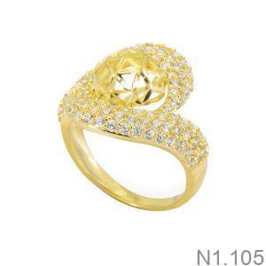Nhẫn Nữ Vàng 18K Đính Đá CZ - N1.105