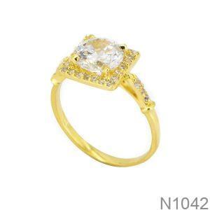 Nhẫn Nữ Vàng 18K Đính Đá CZ - N1042