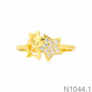 Nhẫn Nữ Vàng 18K Đính Đá CZ - N1044.1