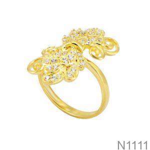 Nhẫn Nữ Vàng 18K Đính Đá CZ - N1111