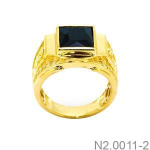 Nhẫn Nam Rồng Vàng Vàng 18K Đá Đen - N2.0011-2
