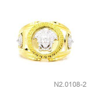 Nhẫn Nam Versace Vàng Hai Màu 18k - N2.0108-2