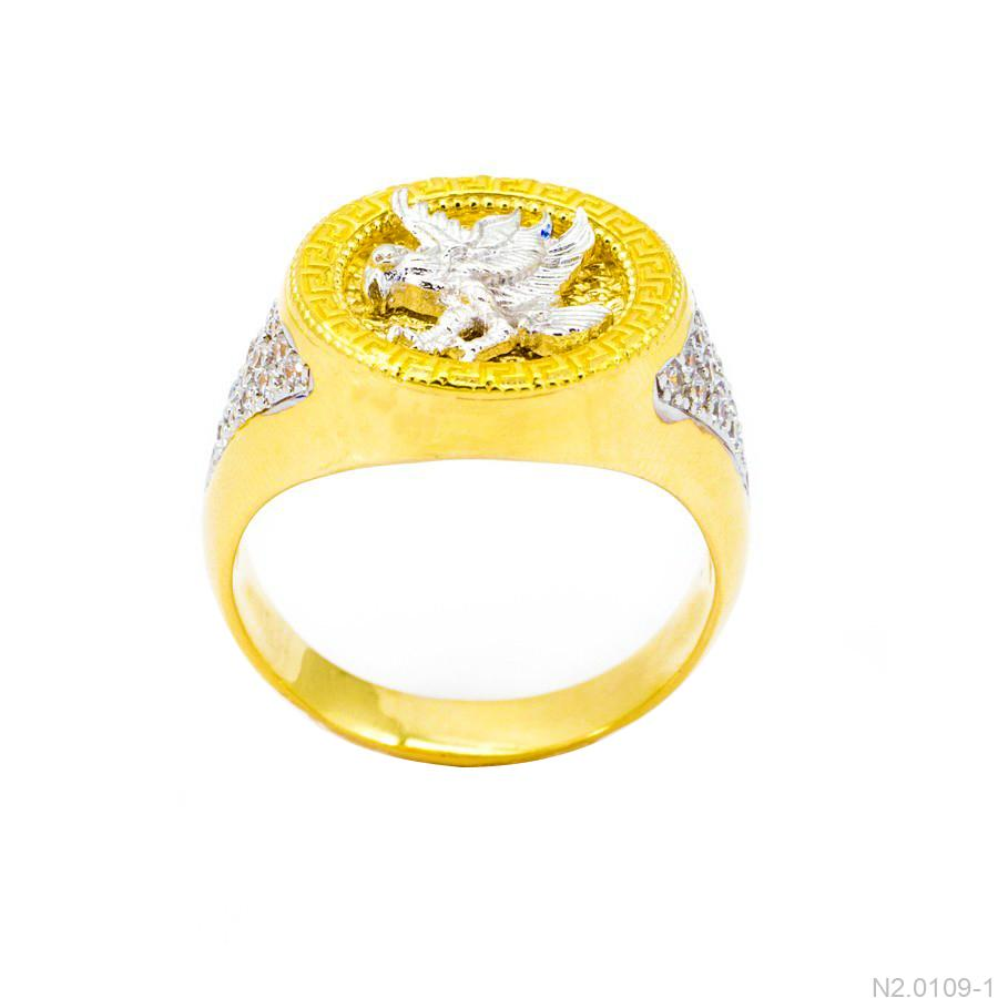 Nhẫn Nam Đại Bàng Vàng Hai Màu 18k - N2.0109-1