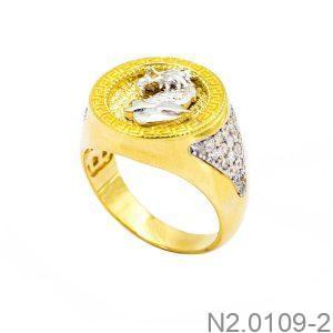 Nhẫn Nam Rồng Vàng Hai Màu 18k - N2.0109-2