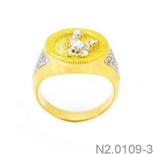 Nhẫn Nam Bọ Cạp Vàng Hai Màu 18k - N2.0109-3