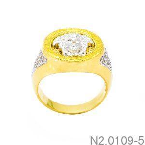 Nhẫn Nam Versace Vàng Hai Màu 18k - N2.0109-5