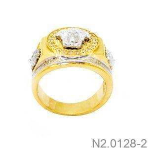 Nhẫn Nam Versace Vàng Hai Màu 18k - N2.0128-2