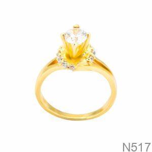 Nhẫn Nữ Vàng 18K Đính Đá CZ - N517