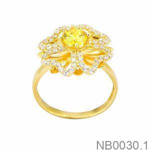 Nhẫn Nữ Vàng 18K Đính Đá CZ - NB0030.1