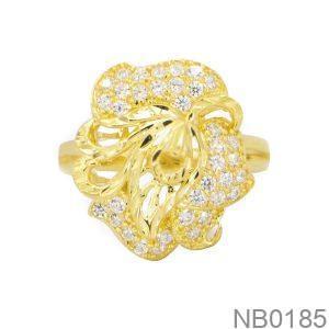 Nhẫn Nữ Vàng 18K Đính Đá CZ - NB0185