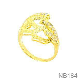 Nhẫn Nữ Vàng 18K Đính Đá CZ - NB184