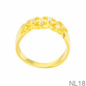 Nhẫn Nữ Vàng 18K Đính Đá CZ - NL18
