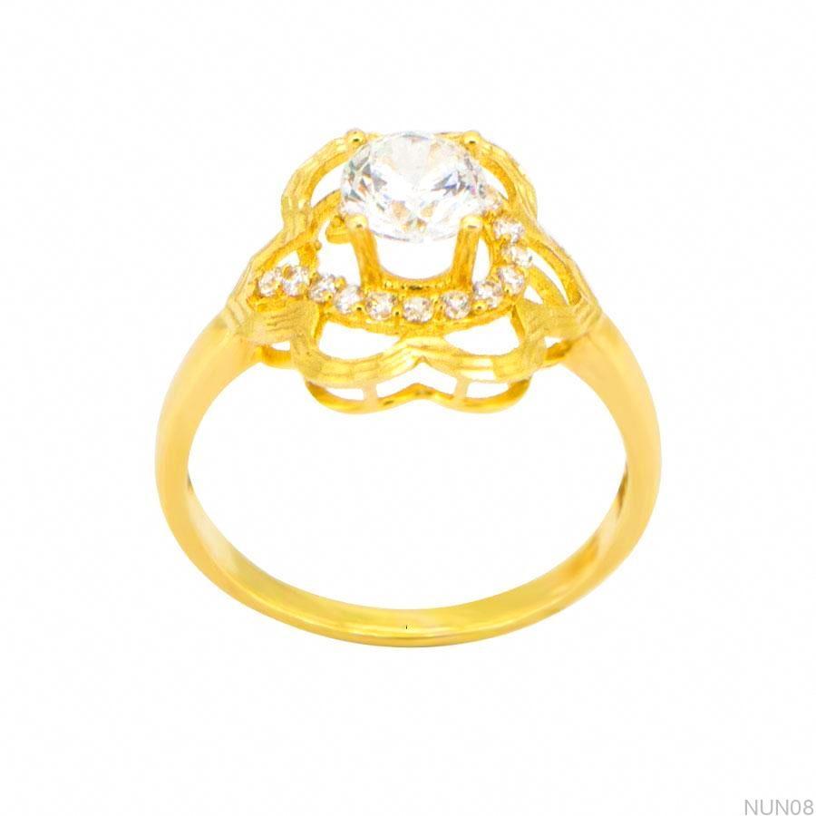 Nhẫn Nữ Vàng 18K Đính Đá CZ - NUN08