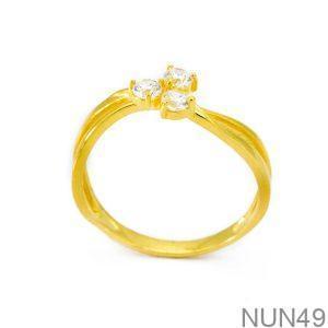 Nhẫn Nữ Vàng 18K Đính Đá CZ - NUN49