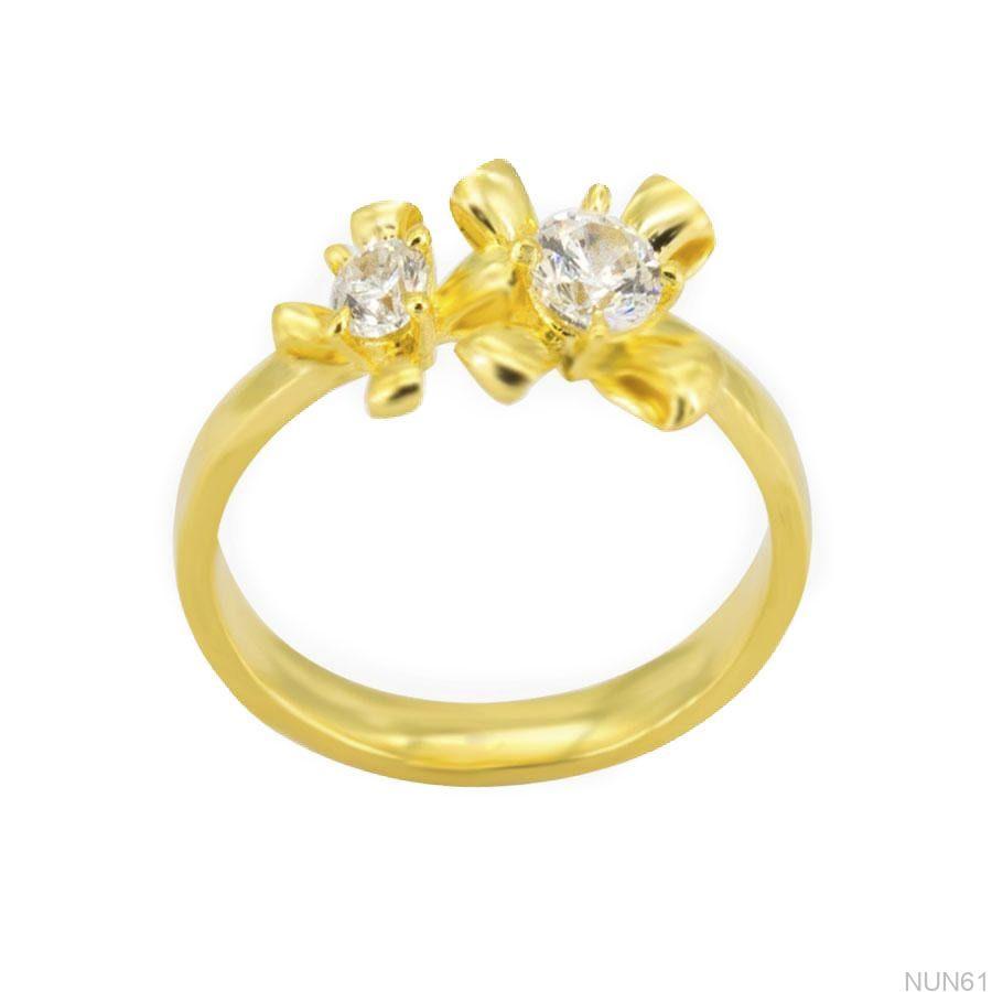 Nhẫn Nữ Vàng 18K Đính Đá CZ - NUN61