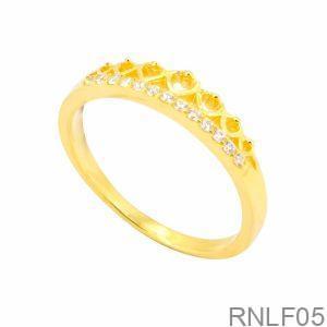 Nhẫn Nữ Vàng 18K Đính Đá CZ - RNLF05