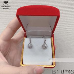 Bông Tai Vàng Trắng 10K - B1.0143