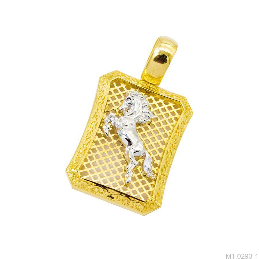 M1.0293-1-1 mặt dây chuyền nam bạch mã vàng 10k