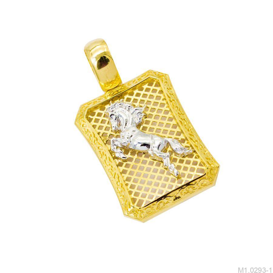 M1.0293-1-2 mặt dây chuyền nam bạch mã vàng 10k