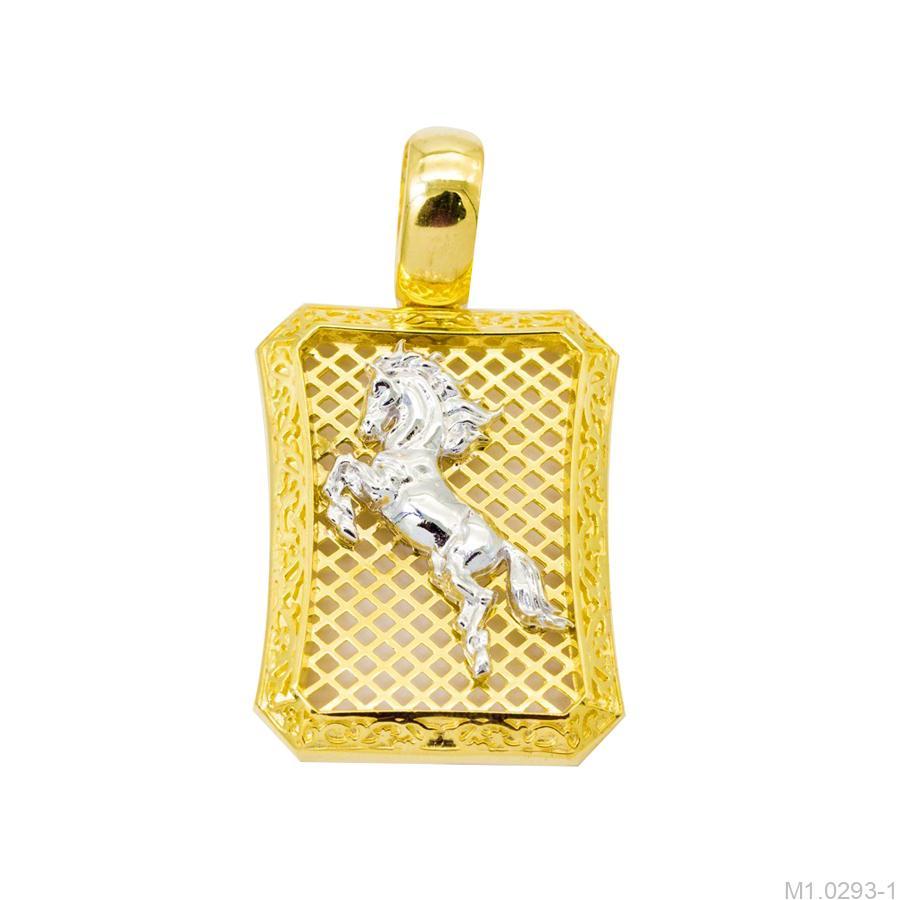 M1.0293-1 mặt dây chuyền nam bạch mã vàng 10k