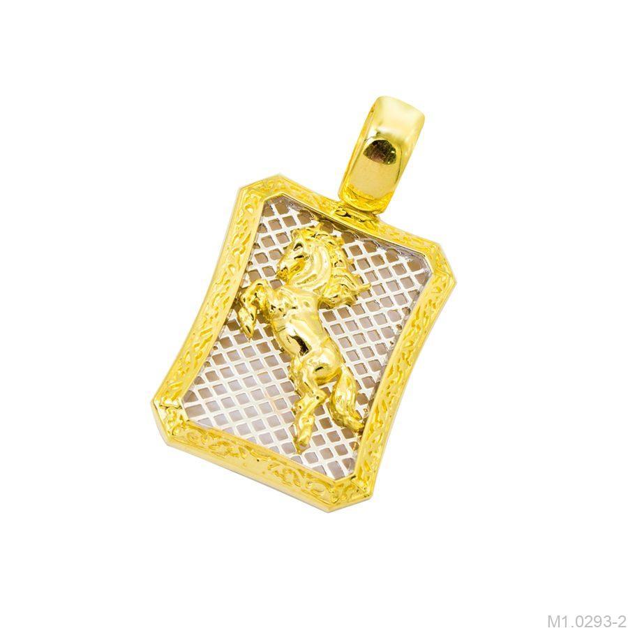 M1.0293-2-1 mặt dây chuyền nam vàng 10k phi mã