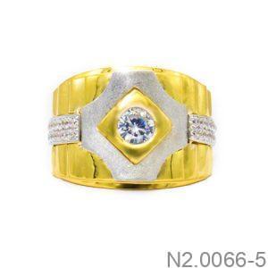 Nhẫn Nam Vàng 18k Đính Đá CZ - N2.0066-5