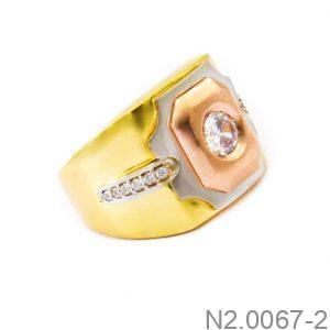 Nhẫn Nam Vàng 18k Đính Đá CZ - N2.0067-2