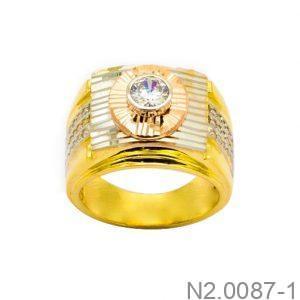 Nhẫn Nam Vàng 18k Đính Đá CZ - N2.0087-1