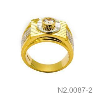 Nhẫn Nam Vàng 18k Đính Đá CZ - N2.0087-2